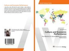 Обложка Culture and Economic Performance