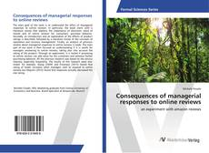 Capa do livro de Consequences of managerial responses to online reviews