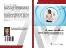 Bookcover of Grammatik erklingt