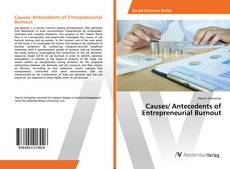 Capa do livro de Causes/ Antecedents of Entrepreneurial Burnout