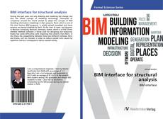 Bookcover of BIM interface for structural analysis