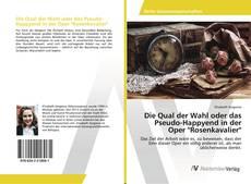 """Capa do livro de Die Qual der Wahl oder das Pseudo-Happyend in der Oper """"Rosenkavalier"""""""