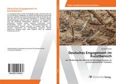 Buchcover von Deutsches Engagement im Kunstbereich