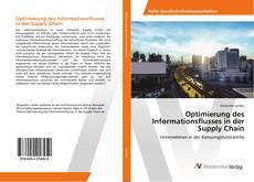 Buchcover von Optimierung des Informationsflusses in der Supply Chain