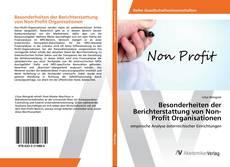 Couverture de Besonderheiten der Berichterstattung von Non-Profit Organisationen