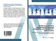 """Copertina di Förderung mit dem systemischen Konzept """"Empathie und Verstehen"""" nach Cuomo"""
