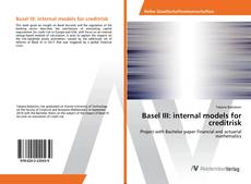 Portada del libro de Basel III: internal models for creditrisk