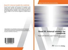 Bookcover of Basel III: internal models for creditrisk