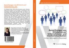 Обложка Auswirkungen von Shitstorms auf Unternehmens- und Userkommunikation