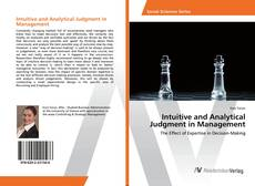 Intuitive and Analytical Judgment in Management kitap kapağı