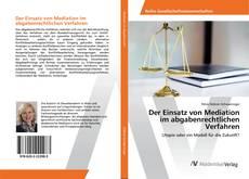 Buchcover von Der Einsatz von Mediation im abgabenrechtlichen Verfahren