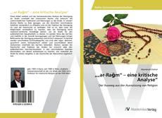 """Bookcover of """"""""ar-Raǧm"""" – eine kritische Analyse"""""""