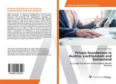 Buchcover von Private foundations in Austria, Liechtenstein and Switzerland