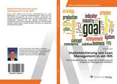 Capa do livro de Implementierung von Lean Management in ein IMS