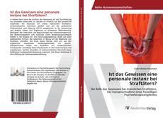 Bookcover of Ist das Gewissen eine personale Instanz bei Straftätern?