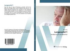 Capa do livro de Langeweile?!