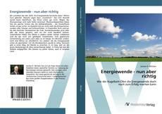 Capa do livro de Energiewende - nun aber richtig