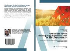 Copertina di Hindernisse für die Beteiligung junger Menschen in der Landwirtschaft