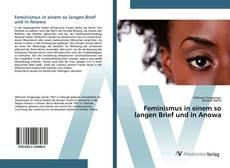 Feminismus in einem so langen Brief und in Anowa kitap kapağı