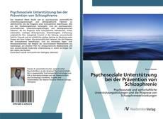 Обложка Psychosoziale Unterstützung bei der Prävention von Schizophrenie