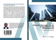 Herausforderungen für die Integration in die Weltwirtschaft kitap kapağı