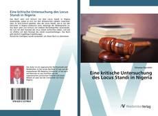 Capa do livro de Eine kritische Untersuchung des Locus Standi in Nigeria