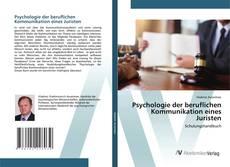 Buchcover von Psychologie der beruflichen Kommunikation eines Juristen