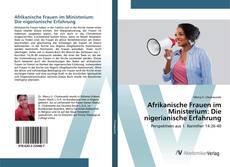Buchcover von Afrikanische Frauen im Ministerium: Die nigerianische Erfahrung