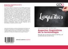Portada del libro de Aspectos lingüísticos de la terminología