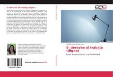 Capa do livro de El derecho al trabajo (digno)