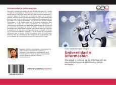 Bookcover of Universidad e información
