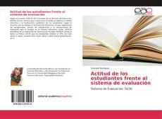Bookcover of Actitud de los estudiantes frente al sistema de evaluación