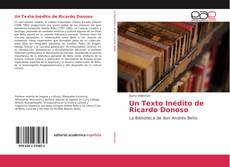 Capa do livro de Un Texto Inédito de Ricardo Donoso