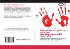 Обложка Procedimiento pericial para las investigaciones del homicidio