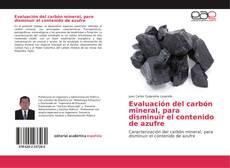 Обложка Evaluación del carbón mineral, para disminuir el contenido de azufre