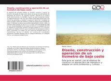 Couverture de Diseño, construcción y operación de un lisímetro de bajo costo