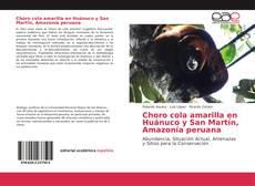 Portada del libro de Choro cola amarilla en Huánuco y San Martín, Amazonía peruana