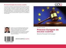 Portada del libro de Proceso Europeo de escasa cuantía