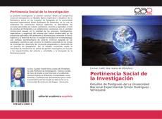 Portada del libro de Pertinencia Social de la Investigación