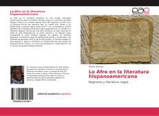 Capa do livro de Lo Afro en la literatura hispanoamericana