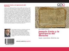 Portada del libro de Joaquín Costa y la ignorancia del Derecho