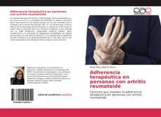 Portada del libro de Adherencia terapéutica en personas con artritis reumatoide