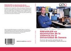Borítókép a  PREVIOLEM en disminución de la violencia en la Universidad de Sonora - hoz