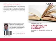 Couverture de Rodolfo Lenz, un sociolingüista visionario