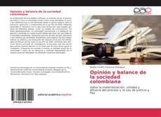 Opinión y balance de la sociedad colombiana kitap kapağı