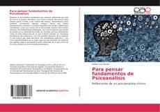 Capa do livro de Para pensar fundamentos de Psicoanálisis