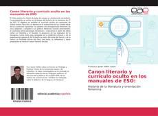 Bookcover of Canon literario y currículo oculto en los manuales de ESO:
