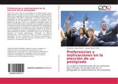 Capa do livro de Preferencias y motivaciones en la elección de un postgrado