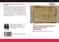 Capa do livro de De lo Epistemológico e Histórico de la Filosofía