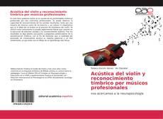 Capa do livro de Acústica del violín y reconocimiento tímbrico por músicos profesionale